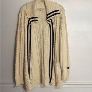 Tommy Hilfiger ivory robe/cardigan large